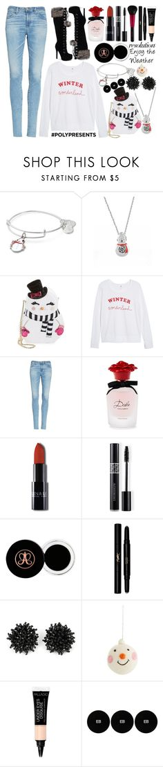 """""""#PolyPresents: New Year's Resolutions"""" by princess13inred ❤ liked on Polyvore featuring Alex and Ani, Betsey Johnson, Sundry, AG Adriano Goldschmied, Dolce&Gabbana, Christian Dior, Revlon, Yves Saint Laurent, Harrods and Edward Bess"""