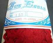 36yds vintage red ricrac