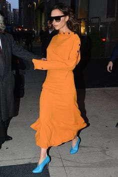 Designer Victoria Beckham spotted stepping out in New York City, New York on February 6, 2017.