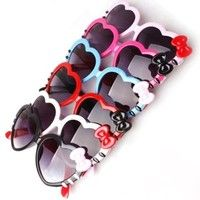 Mama | 2015 Kids Girls Boys Anti-UV Sunglasses Glasses Colorful Heart Bow-knot Goggles