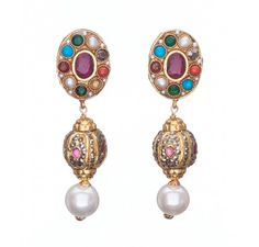 SKU-RPSE05565-Gorgeous gold patra earring