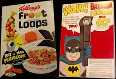 Cereal box toys!   Cardboard firearms, baking soda submarines and Fred Flintstone's head on a stick. It's a shame these little trinkets are all but extinct.