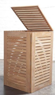 Cesto ropa sucia madera rejilla piso pinterest - Cestos de madera ...