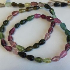 Tourmaline Faceted Tear Drops-7x4mm by BeadPalaceInc on Etsy