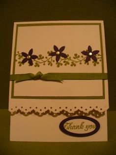 vine with flowers by julie dean - Cards and Paper Crafts at Splitcoaststampers