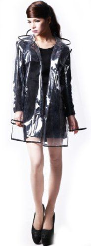 City Block Bearcat Transparent with Colorful Edge Fashion Raincoat (Black(Short Style)) Rain coat http://www.amazon.com/dp/B00CE5EK50/ref=cm_sw_r_pi_dp_uMWxub16HT37B