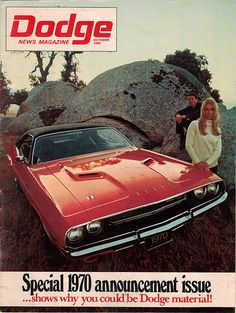 1970 Dodge Magazine #CarCredit #YouAreApproved www.carcredittampa.com