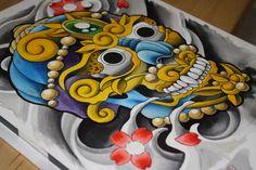 Tibetan Skull Art