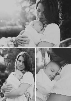 Beautiful Mother-Daughter Newborn Photography - On to Baby