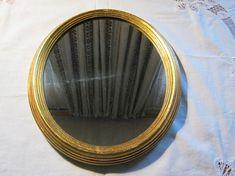 Vintage Spiegel OvalGoldrahmen holzHöhe ca.34 cmBreite