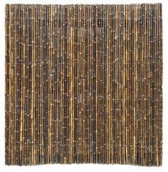 Bamboerol naturel zwart 180x180 cm; Gamma