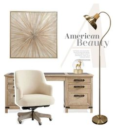 """an office to breathe."" by harper-honey ❤ liked on Polyvore featuring interior, interiors, interior design, home, home decor, interior decorating and Pottery Barn"
