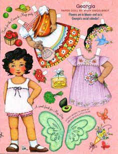Uncut Paper Doll by Mary Engelbreit May Day with Georgia