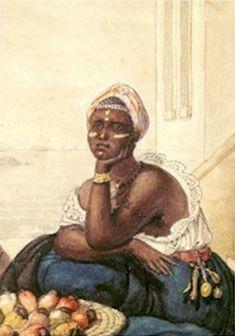 Negra vendendo caju, Jean Baptiste Debret