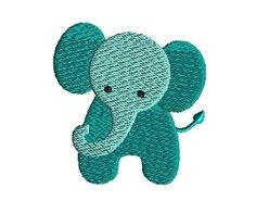 Mini Elephant - 3 Sizes! | What's New | Machine Embroidery Designs | SWAKembroidery.com Sew Cha Cha