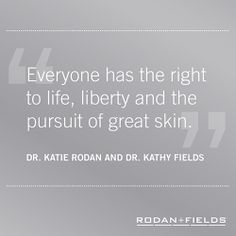This week our attention is turned to all the things that make America great ... including the right to life, liberty and the pursuit of great skin.   We're so blessed that Rodan + Fields® has changed our skin, our lives and the lives of those we touch.  The American Dream is alive and kicking among our Rodan + Fields community, and that's worth celebrating from sea to shining sea. God bless America!