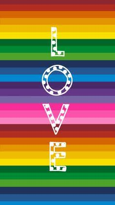 Rainbow Stripe with Love. By Amy Raymond Rainbow Stripe with Love. By Amy Raymond Rainbow Wallpaper, Love Wallpaper, Stripe Wallpaper, Rainbow Art, Rainbow Colors, Rainbow Stuff, Bright Colours, Cellphone Wallpaper, Iphone Wallpaper