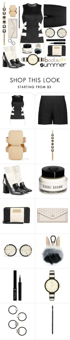 """""""Summer boots"""" by sunnydays4everkh ❤ liked on Polyvore featuring Galvan, Lela Rose, Marni, Orla Kiely, Erdem, Bobbi Brown Cosmetics, Marc by Marc Jacobs, Coach, Alice + Olivia and Kendall + Kylie"""