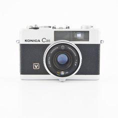 KONICA C35 V  vintage viewfinder camera by ShutterLightOC on Etsy, $99.99