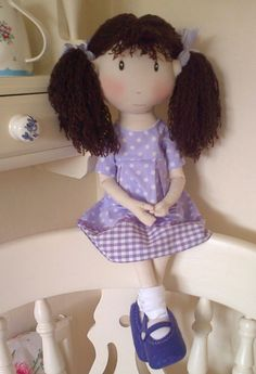Handmade Collectable Rag Doll DELILAH World of by WorldOfSweeties