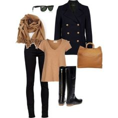♥love the black and camel