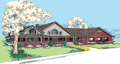 Eplans Farmhouse House Plan - Stunning One-floor Country Home - 2778 Square Feet and 3 Bedrooms from Eplans - House Plan Code HWEPL56038