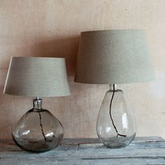 Make a statement with Maya, our stunning, hand blown glass lamp. With a textured linen shade to complement the glass, there are 2 shapes to choose from. Table Lamps Uk, A Table, Glass Table, Clear Glass Lamps, Task Lamps, Bedside Lamp, Muted Colors, Lamp Bases, Recycled Glass