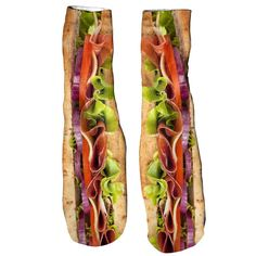 Sub Sandwich Foot Glove Socks