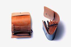 Blue leather multi folder wallet by Blue Horizon.-SR