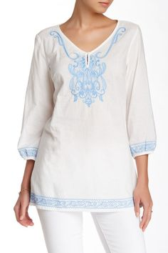 Embroidered Tunic by J. McLaughlin on @nordstrom_rack