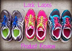 Lock Laces Product Review - elastic laces that make it fast and easy for you to pull your shoes on, plus you don't have to adjust them!  Perfect for a quick transition from the bike to the run in a triathlon.