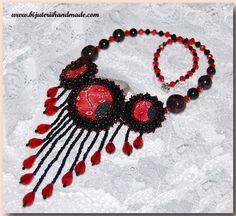 ro red dahlia Dahlia, Crochet Necklace, Handmade Jewelry, Unique, Stuff To Buy, Free Shipping, Beauty, Beleza, Dahlia Flower