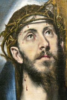 Cristo con la cruz, la cruz de la redención.   (El Greco)