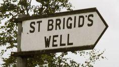 Sign to St. Brigid's Well, County Kildare, Ireland
