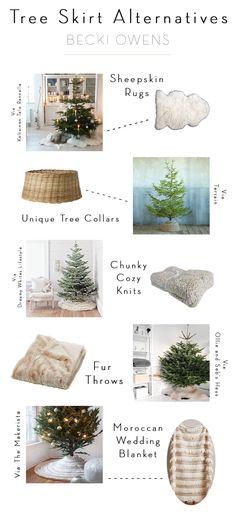Starting from the bottom up, your christmas tree can fit seamlessly in to your design aesthetic while still adding to the festive feel that makes the holiday magical. This year, I am loving the look of non-traditional christmas tree skirts. Woven or galvanized tree collars set a rustic tone for your decor, while chunky knits and fur throws feel soft and cozy. Browse the images below that have me inspired and then shop the look for your self. Enjoy!