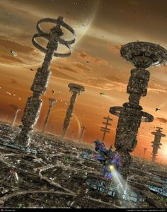 World Of Fantasy And Imagination Which Depict Future Cities (Dreamy Artworks) Cyberpunk, Fantasy City, World Of Fantasy, Art Science Fiction, Sci Fi City, Futuristic City, Futuristic Architecture, City Illustration, Future City