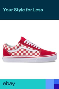 0104501e02dc1d Vans Primary Check Old Skool Sneakers (Racing RedWH) Skate Checkerboard  Shoes