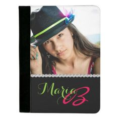 #photo - #Custom Photo Diamonds & Monogram Padfolio