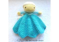 Piu detalles Crochet: Elsa manta de apego - Kichink!