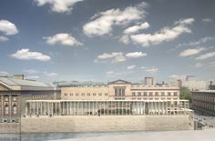 David Chipperfield Architects have presented new designs for the entrance building on Museum Island in Berlin. Called the James Simon Gallery, the building will serve as a grand entrance to the cluster of cultural buildings, set on an island in the river Spree. The new design is the final part of Chipperfield's masterplan for Museum More