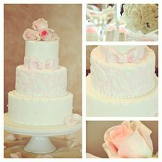 pretty in pink! wedding cake :)