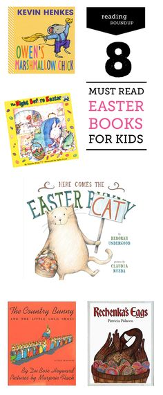8 fantastic books to read with your kids during Easter recommended by a children's librarian - especially excited about #1 and #5.