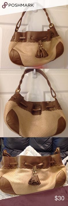 Cole Haan straw bag new no tags New never used Cole Haan Bags Mini Bags
