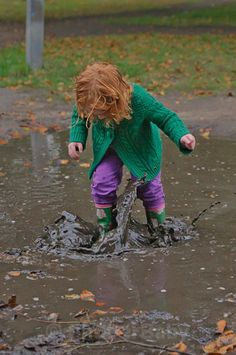 Child Photography London by ShutterBaby | jumping in muddy puddles