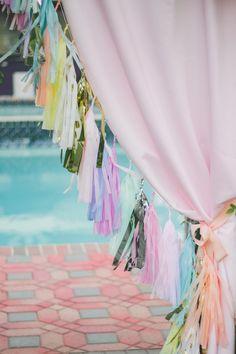 Tassels! http://www.stylemepretty.com/2015/02/27/retro-pastel-wedding-inspiration/ | Photography: Kelsea Holder - http://www.kelseaholder.com/