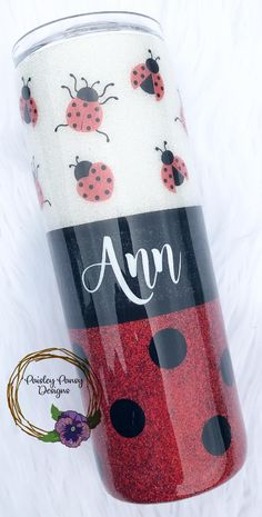 Ladybug Glitter Epoxy Tumbler // Glitter Tumbler // Gift For Her // … – Typical Miracle Diy Tumblers, Personalized Tumblers, Custom Tumblers, Glitter Tumblers, Lady Bug, Custom Cups, Glitter Cups, Birthday Gifts For Sister, Tumbler Designs