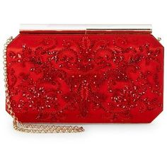 Selecting The Right Authentic Designer Handbag For Yourself – Bags Online Shop Red Clutch, Beaded Clutch, Beaded Purses, Red Purses, Purses And Handbags, Red Fashion, Fashion Bags, Red Handbag, Red Bags