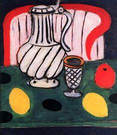 Tin Pitcher, Lemon and Armchair Henri Matisse - 1939