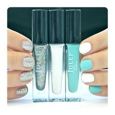 $4.00 EACH ... ***SOLD*** Daphne by Julep: Fresh seafoam green creme New ...STILL AVAILABLE:  Mila by Julep: Charcoal, multi-colored glitter New ... Kate by Julep: Soft white pearl New