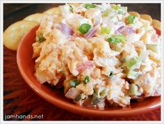 Spicy Sriracha Crab Dip. Would probably be good with shrimp instead of the imitation crab meat too.